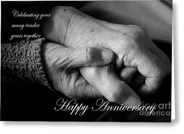 Tender Years Anniversary Card Greeting Card by Nina Silver