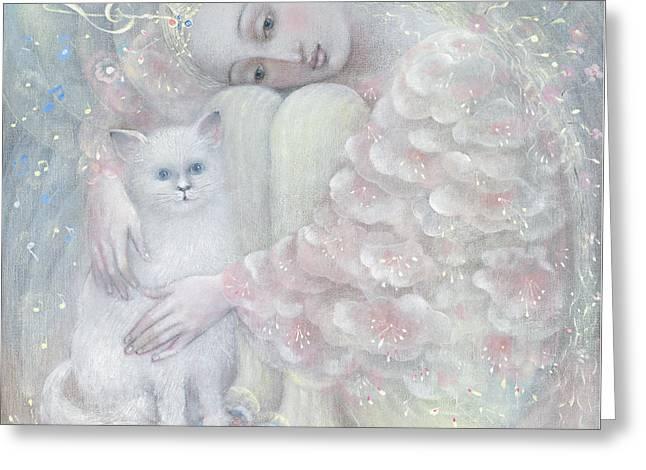 Tenderness Greeting Card by Annael Anelia Pavlova