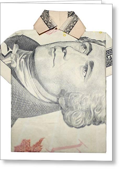 Tendollar T Shirt Greeting Card by Kevin  Sherf