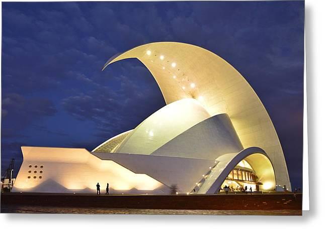 Tenerife Auditorium At Night Greeting Card