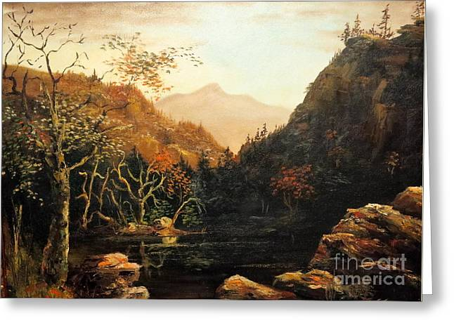 Tennesse River Greeting Card by Lee Piper