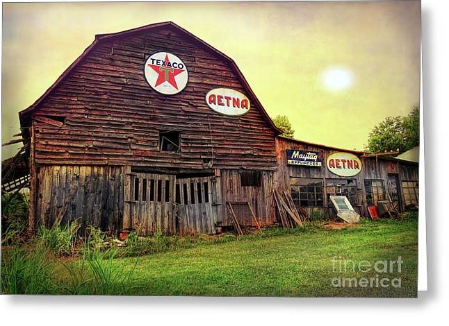 Tennessee Barn Greeting Card by Marion Johnson