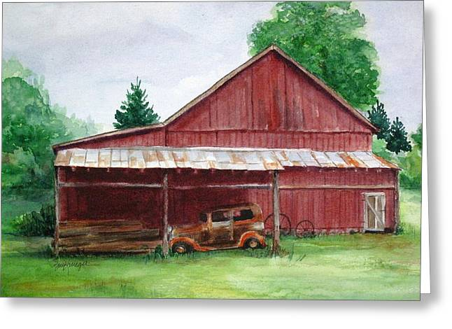 Tennessee Barn Greeting Card by Suzanne Krueger
