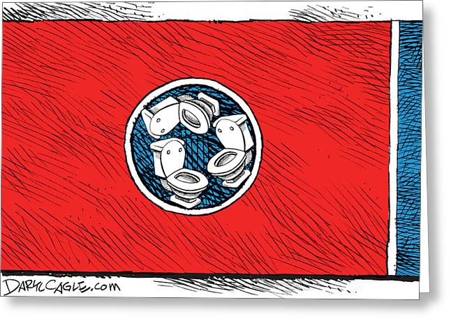 Tennessee Bathroom Flag Greeting Card