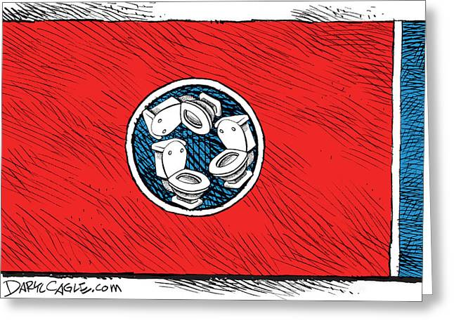 Tennessee Bathroom Flag Greeting Card