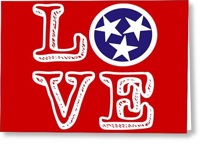Tennessee Flag Love Greeting Card
