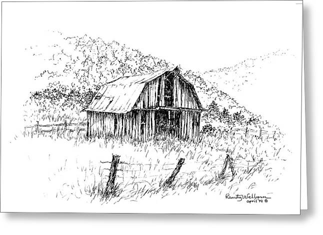 Tennessee Hills With Barn Greeting Card