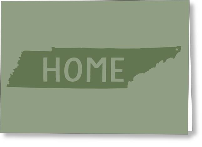 Greeting Card featuring the digital art Tennessee Home Green by Heather Applegate