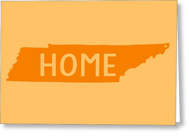 Tennessee Home Orange Greeting Card