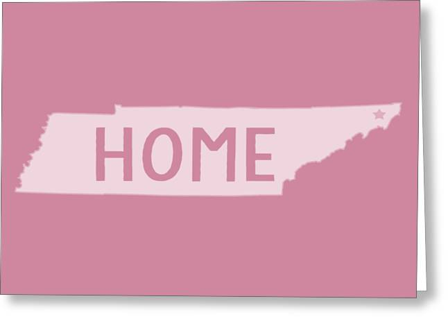 Greeting Card featuring the photograph Tennessee Home White by Heather Applegate