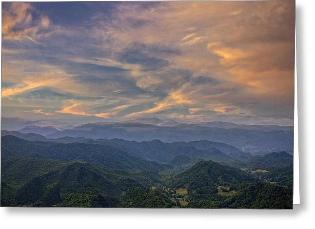 Tennessee Mountains Sunset Greeting Card
