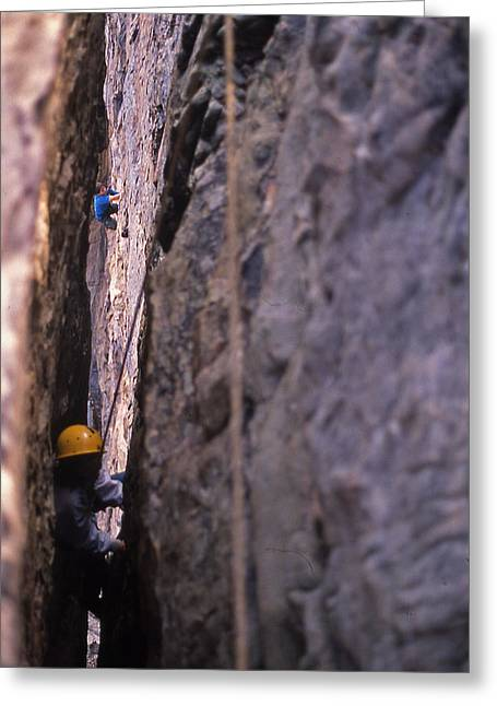Tennessee Rappelling - 1 Greeting Card by Randy Muir
