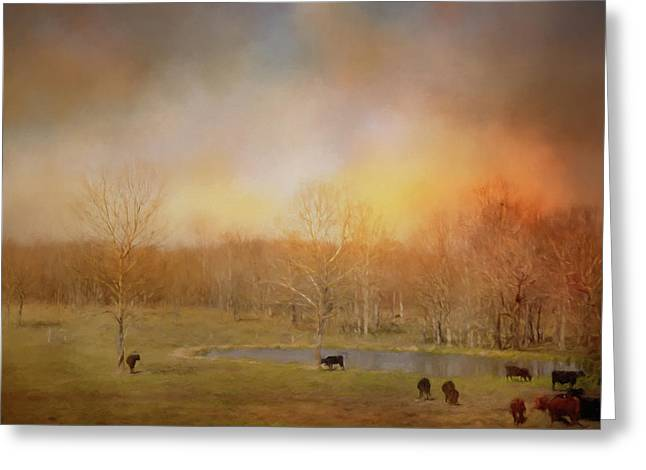 Tennessee Spring Morning Greeting Card by Jai Johnson