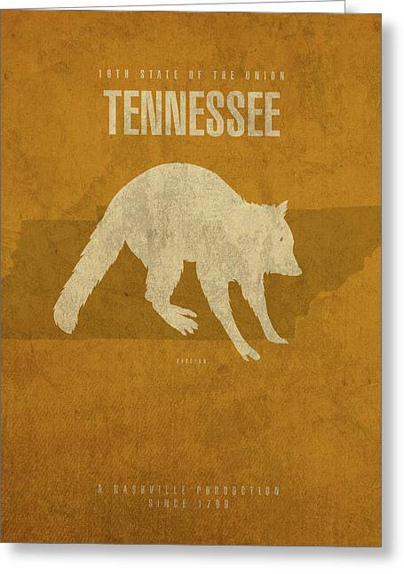 Tennessee State Facts Minimalist Movie Poster Art Greeting Card