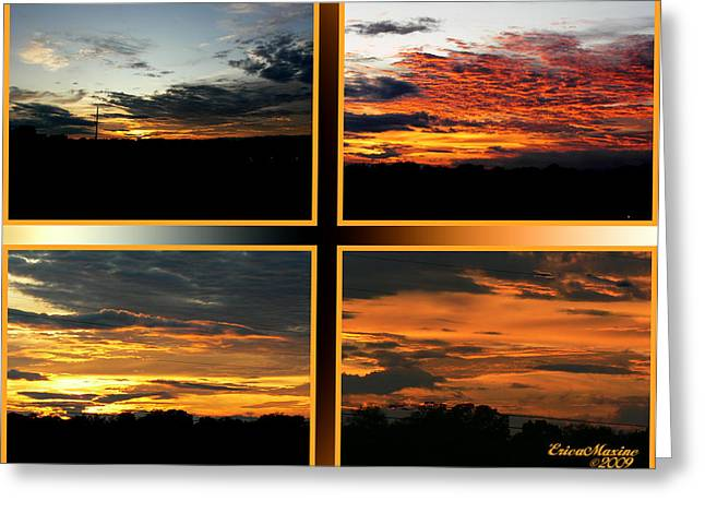 Greeting Card featuring the photograph Tennessee Sunset by EricaMaxine  Price