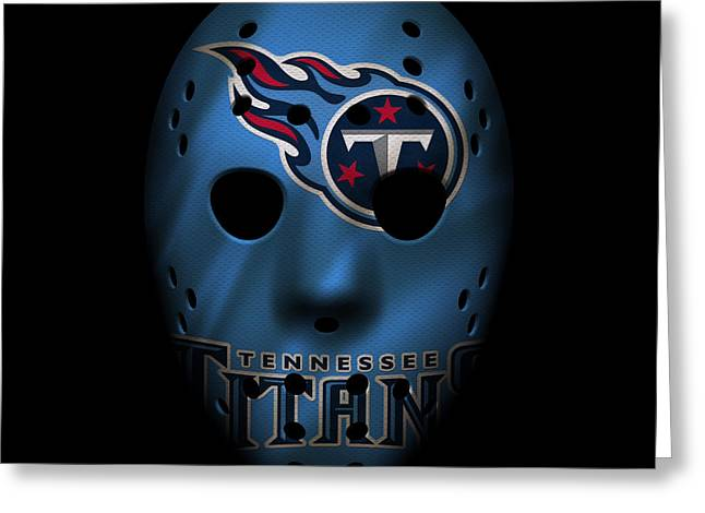 Tennessee Titans War Mask Greeting Card