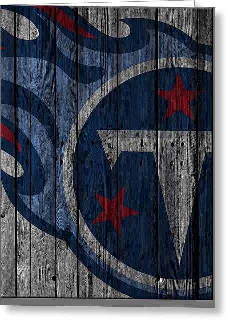 Tennessee Titans Wood Fence Greeting Card by Joe Hamilton