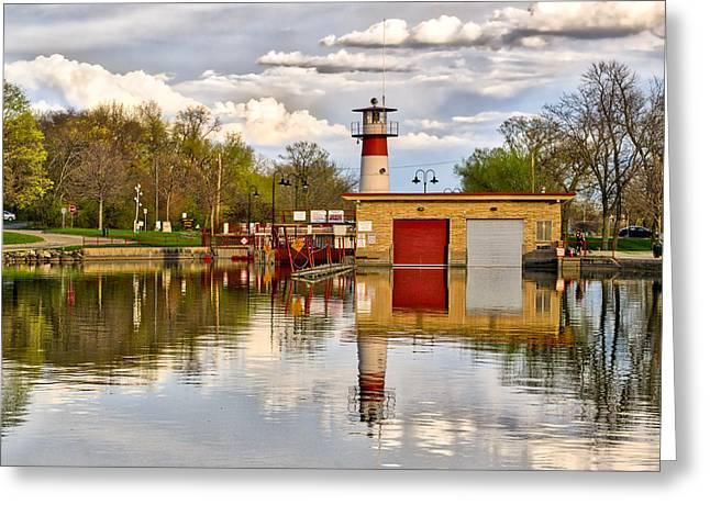 Tenney Lock - Madison - Wisconsin Greeting Card