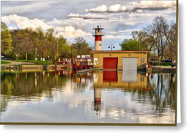 Tenney Lock - Madison - Wisconsin Greeting Card