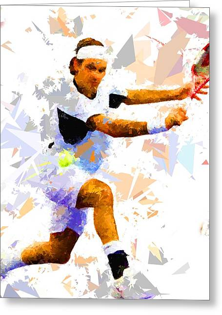 Greeting Card featuring the painting Tennis 114 by Movie Poster Prints