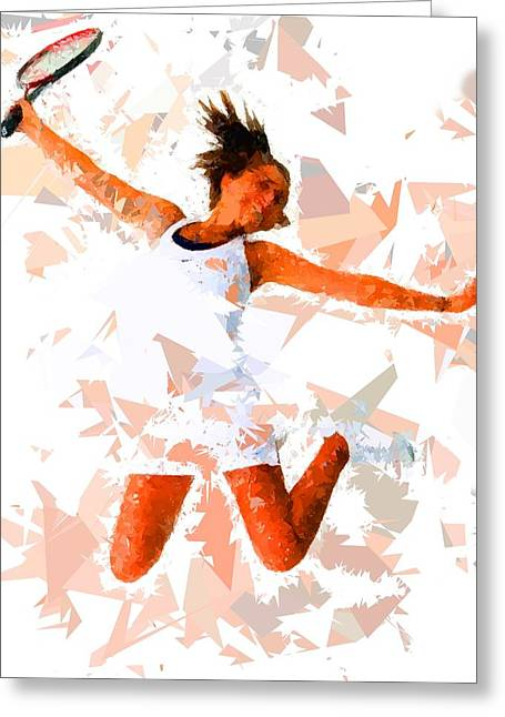 Tennis 115 Greeting Card by Movie Poster Prints