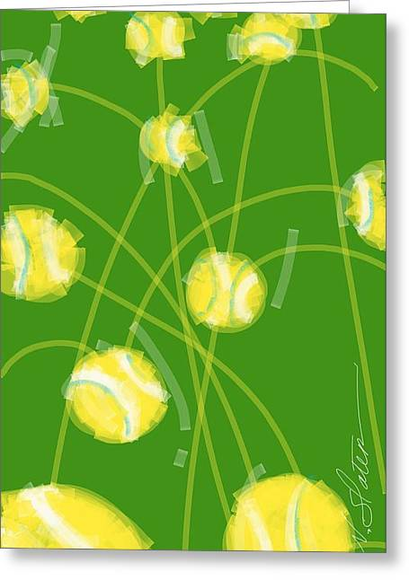 Tennis Balls At Me Greeting Card