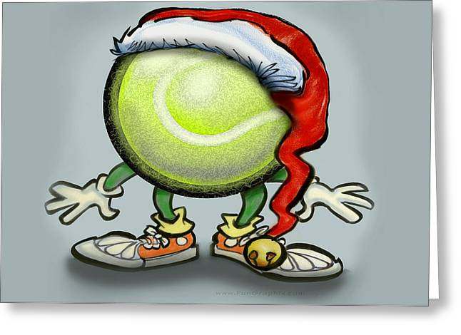 Tennis Christmas Greeting Card by Kevin Middleton