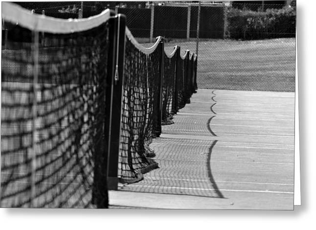 Tennis Courts Greeting Card by Tracy Smith