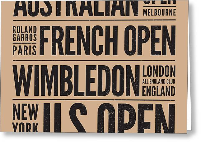 Tennis Grand Slams Greeting Card by Mark Brown