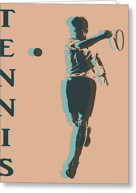 Tennis Player Pop Art Poster Greeting Card by Dan Sproul