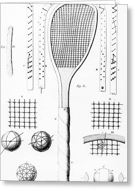 Tennis Racket And Balls Greeting Card
