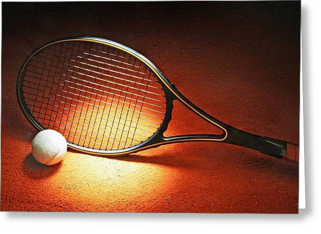 Tennis Racket Greeting Card