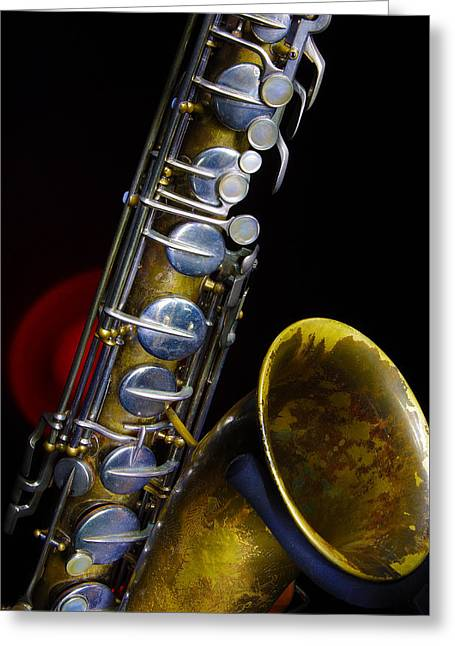 Tenor #1 Greeting Card by Jim Mathis