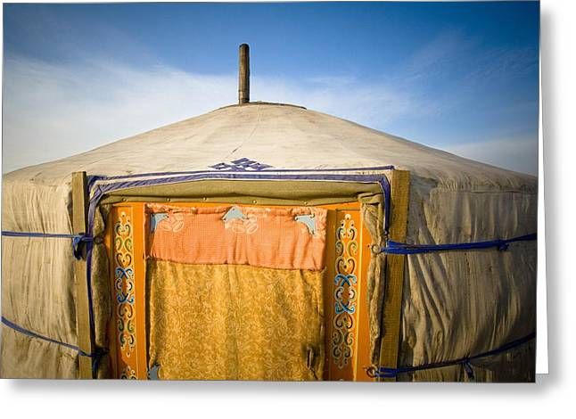 Tent In The Desert Ulaanbaatar, Mongolia Greeting Card by David DuChemin