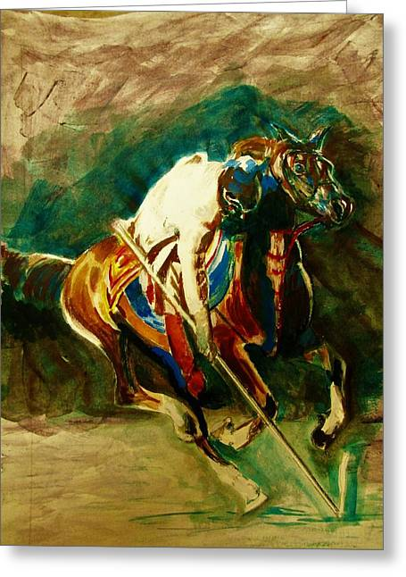 Tent Pegging Sport Greeting Card