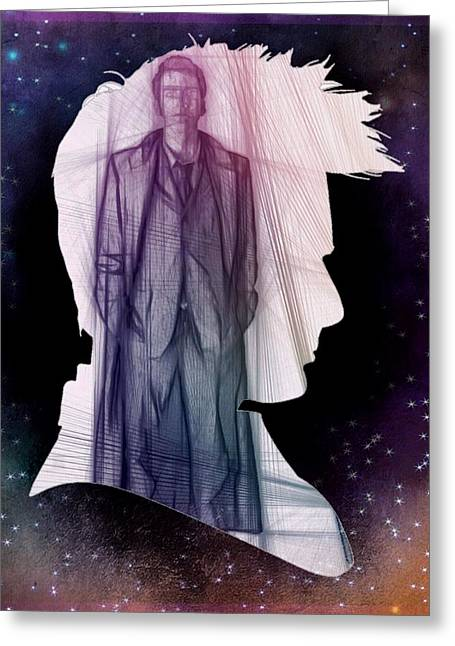 Doctor Who Inspired Tenth Doctor Silhouette  Greeting Card