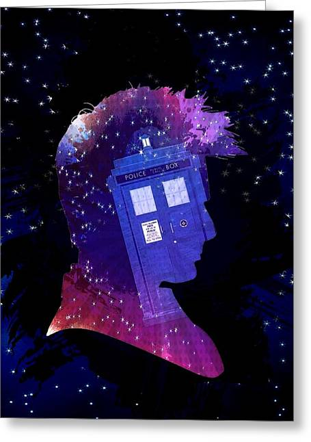 Doctor Who Inspiredtenth Doctor Tardis Greeting Card