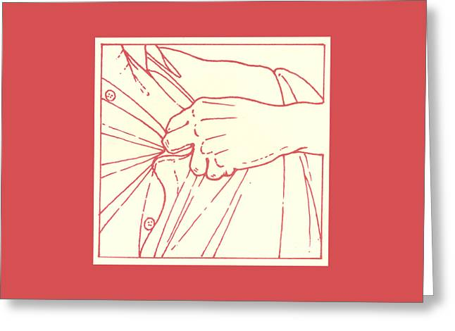 Greeting Card featuring the drawing Tenth Station- Jesus Is Stripped Of His Garments by William Hart McNichols