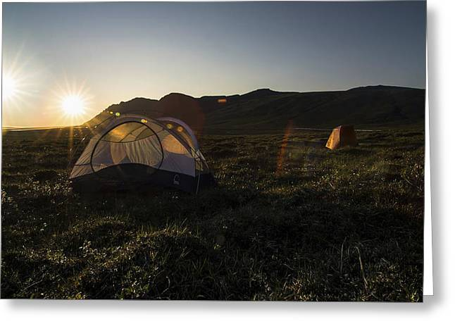 Tenting In The Midnight Sun Greeting Card
