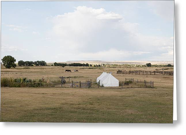 Greeting Card featuring the photograph Tents At Fort Laramie National Historic Site In Goshen County by Carol M Highsmith