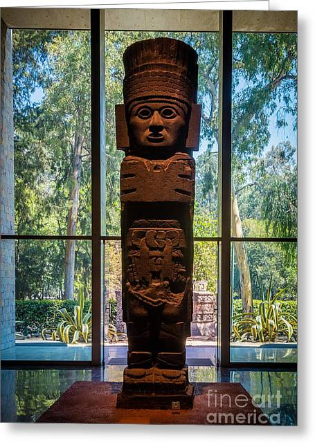 Teotihuacan Figure Greeting Card by Inge Johnsson