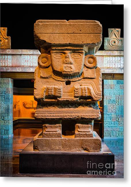 Teotihuacan Sculpture Greeting Card