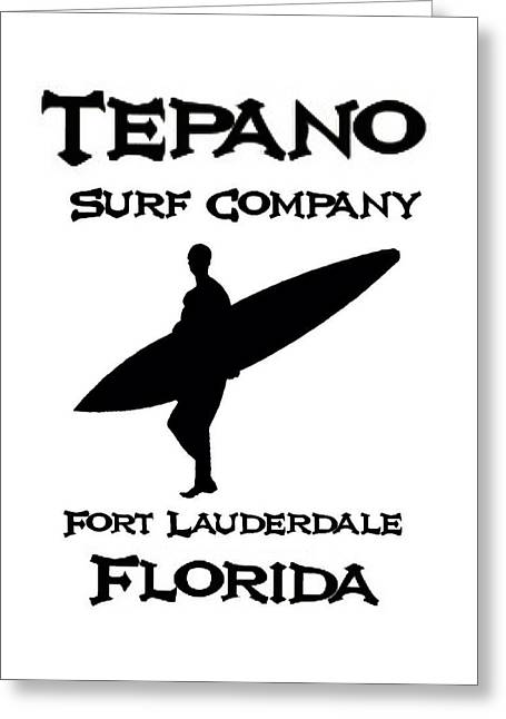 Steve michaels greeting cards greeting card featuring the photograph tepano surf company by steve michaels m4hsunfo