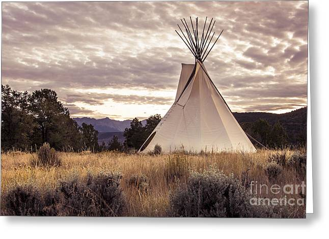 Greeting Card featuring the photograph Tepee by The Forests Edge Photography - Diane Sandoval