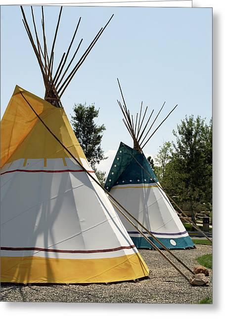 Tepees Wyoming Buffalo Bill Center Of The West Greeting Card by Thomas Woolworth