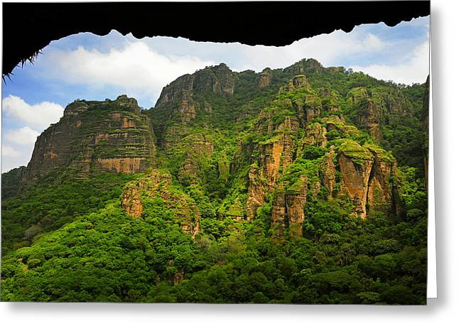Tepozteco Greeting Card by Skip Hunt