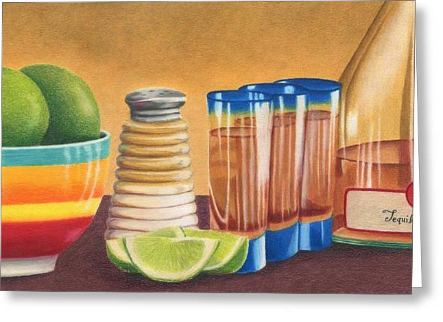 Tequila Greeting Card by Diana Ranstrom