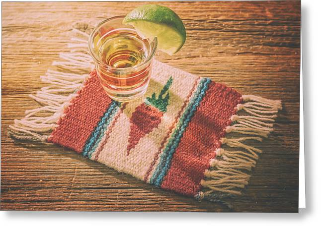 Tequila For Cinco De Mayo Greeting Card by Scott Norris