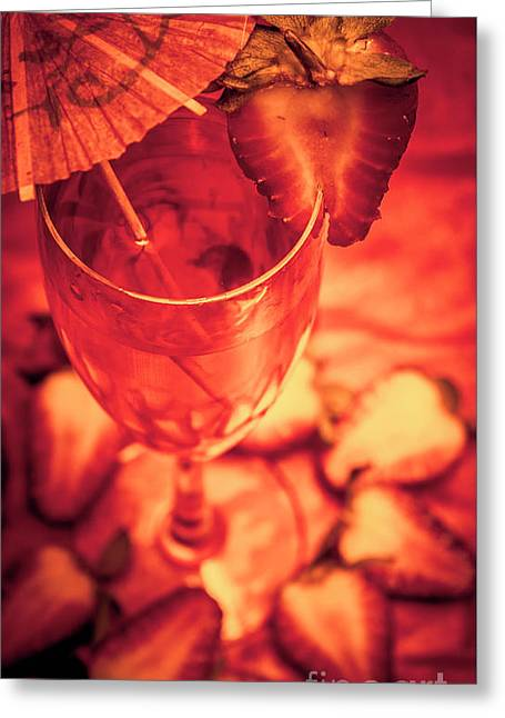 Tequila Sunrise Cocktail Greeting Card by Jorgo Photography - Wall Art Gallery