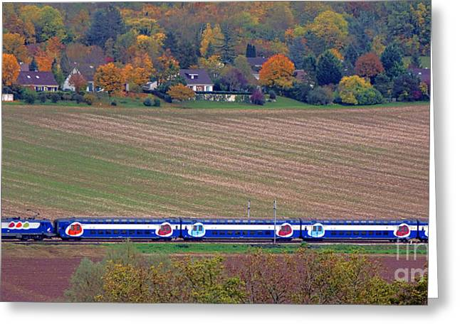 Ter French Regional Train Greeting Card by Olivier Le Queinec